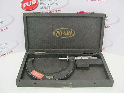 "Moore & Wright 3""-4"" No.966 Micrometer - Good Used Condition In Box"