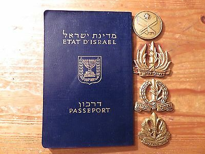 Israel Vintage Passport and Army Insignia Badges##