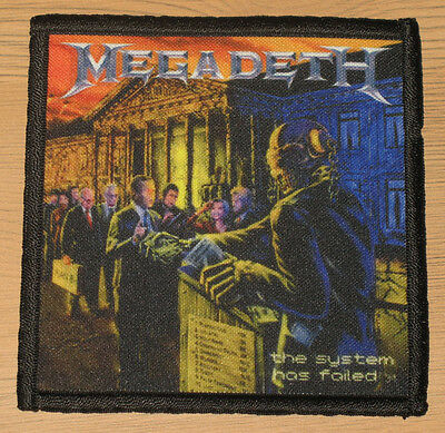 """MEGADETH """"THE SYSTEM HAS FAILED"""" silk screen PATCH"""