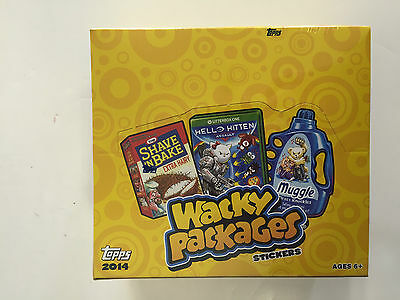 2014 Topps Wacky Packages Stickers Series 1 Retail Box ( 16 Packs )