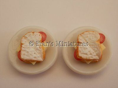 Dolls house food: Cheese and tomato sandwiches for two -By Fran