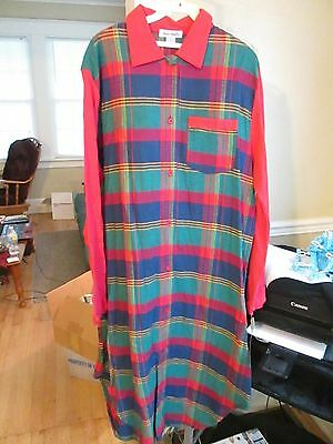 Lucie Ann II pajama gown. red, green plaid cotton NWT Size Small and medium