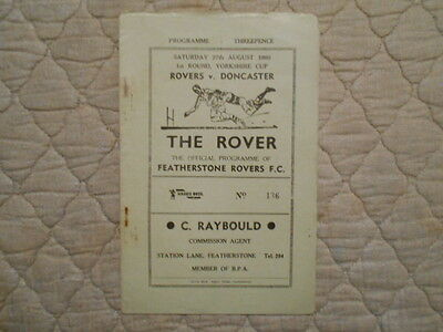 Featherstone V Doncaster Yorkshire Cup 1St Round Match Programme 1960