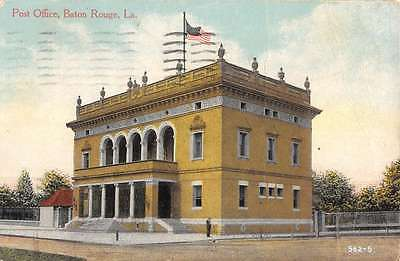 Baton Rouge Louisiana Post Office Street View Antique Postcard K46913