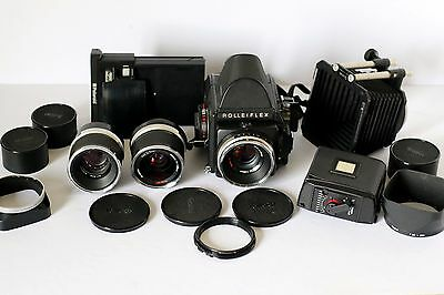 Rolleiflex SL66 SE + CARL ZEISS 50 - 80 - 120 lenses and more Fully working 100%