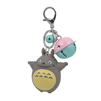 Cute My Neighbor Totoro Bell Pendant Keychain Key Ring Bag Accessories Fans Gift