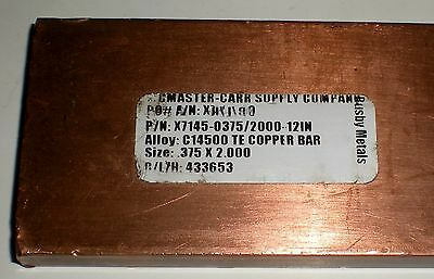 "Busby Metal X7145-0375/2000-12In Cu Ground Bars Copper Alloy 12"" X .375"" X 2"""