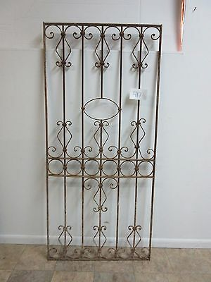 Antique Victorian Iron Gate Window Garden Fence Architectural Salvage 417