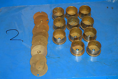 Watchmakers CLOCK Stock  BRASS Circles barrels for GEARS Wheels Lathe  Parts  2