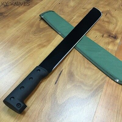 "23"" SURVIVAL HUNTING JUNGLE MACHETE KNIFE Military Fixed Blade Sword C-4114B"