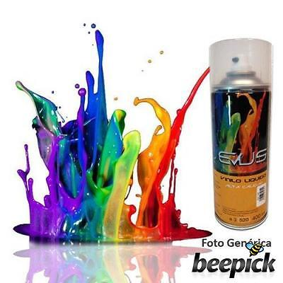 EVUS - Pintura vinilo liquido en spray de 400 ml. Color NEGRO BRILLO,  #1151