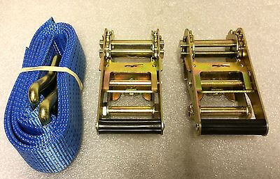 A Pair Of New 5T Snh Ratchets & 1 Meter Straps For A Frame Towing Dolly