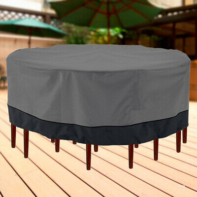 """Patio Garden Outdoor Furniture Winter Cover Large Round Square Table/Chair 94"""" D"""