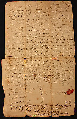 Original 1765 Deed Province of New Hampshire Emery to Emery