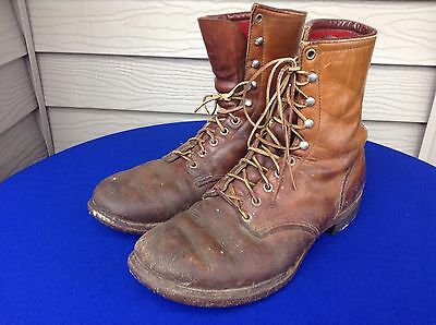 Vintage Red Wing 1960's Cork Sole Work Hunting Insulated Boots 9.5 EE