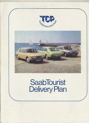 1975 1976 1977 ? Saab European Tourist Delivery Plan US Brochure ww3772