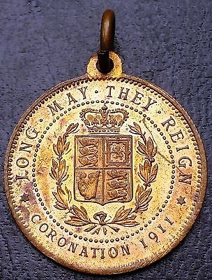King George V & Queen Mary 1911 Coronation Medal - Long May They Reign
