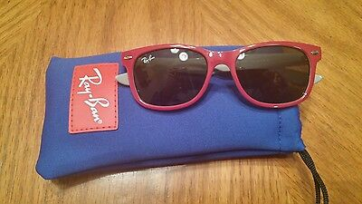New Ray-Ban Junior Kids Sunglasses - RJ9052S 177/87 Top Red on Gray