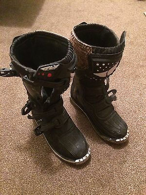 Boys Motorcross Boots,fly Racing,size Youth 5