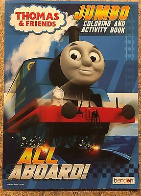 Thomas and Friends Jumbo Coloring and Activity Book New All Aboard