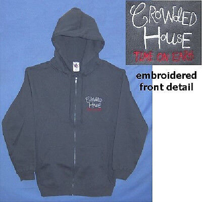 Crowded House! Time On Earth Zip Grey Sweatshirt L New