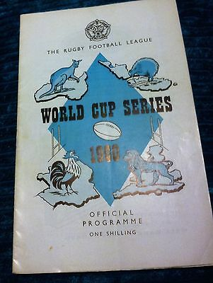 Rugby Football League Programme 1960 Great Britain V France World Cup Series Vgc