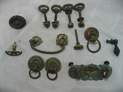 LOT Vintage Door Drawer Handle Pulls Victorian Misc Salvage Shabby