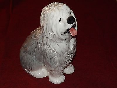 Vintage Beswick No. 2232 Fireside Old English Sheepdog Dog Figure