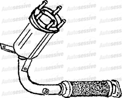 Ford Puma 1.7 Zetec Coupe 97-00 Exhaust Catalytic Converter Spare Part