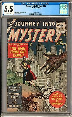 Journey Into Mystery #26 CGC 5.5 (OW) Reinman, Lawrence, Tumlinson Art