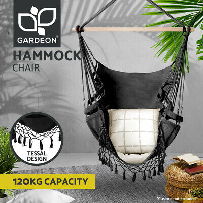 Deluxe Hammock Chair Hammocks Hanging Chair Swing Indoor Outdoor Camping Tassel