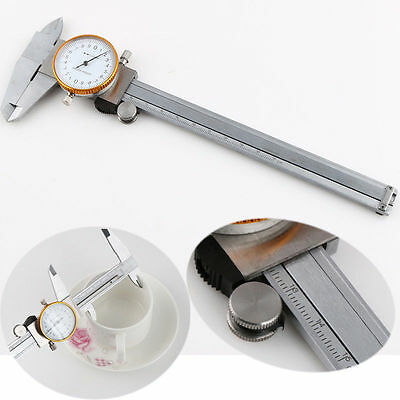 "Dial Vernier Caliper Gauge Micrometer Tool Stainless Steel 0-150mm 0-6"" + Case"