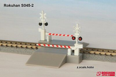 Rokuhan S045-2 Z Scale USA Railroad Crossing Gates *NEW in USA $0 SHIP
