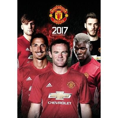 Manchester United Official 2017 Calendar Brand New