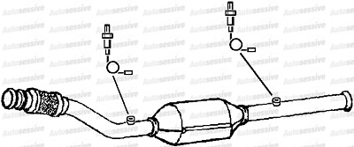 Peugeot 607 2.2 3Fy 3Fz Sln 00-05 Exhaust Front Pipe Replacement + Catalyst