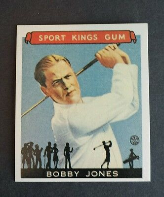 Bobby Jones 1933 Goudey Sports King # 38 Golf Card Free Ship