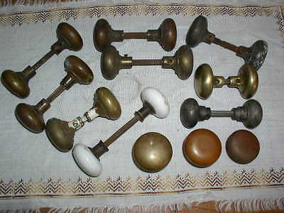 Lot of 21 Mixed Lot Brass, Porcelain & Steel Vintage Door Knobs