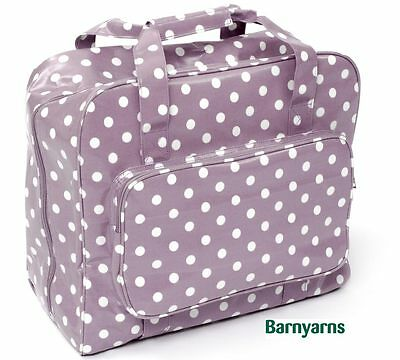 Sewing Machine Bag (PVC) Storage Bag For Your sewing machine - Mauve White Polka