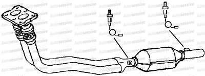 Volvo V40 1.8 B4184S2 122B Est 99-01 Exhaust Twin Front Pipe And Catalyst