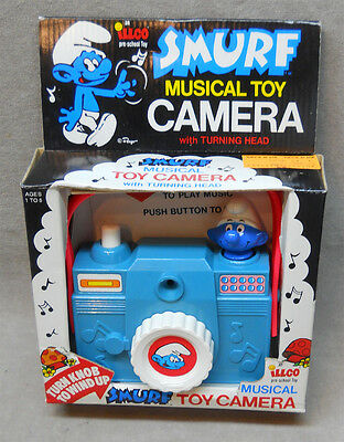 1982 Smurf Musical Toy Camera in Box.