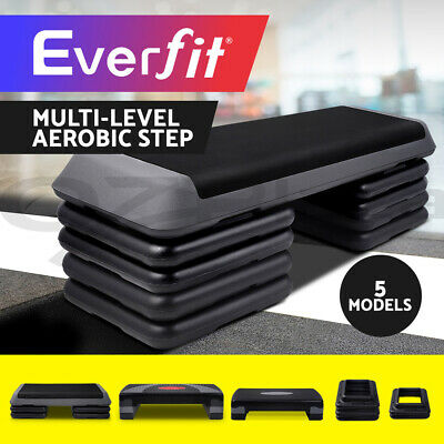 Everfit Aerobic Workout Exercise Cardio Fitness Bench Block Step Stepper level