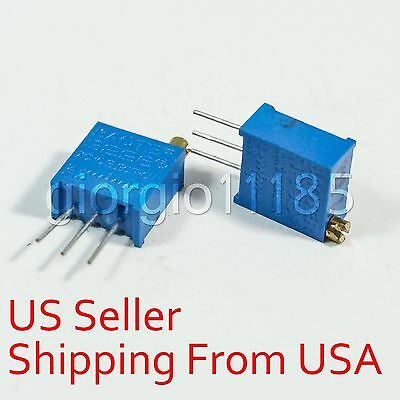 10 pcs 10K ohm 3296 3296W Trim Pot Trimmer Potentiometer Variable Resistors