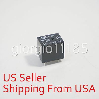 10 pcs SRA-12VDC-CL DC 12V Coil 20A PCB General Purpose Relay 5 Pin SPDT New