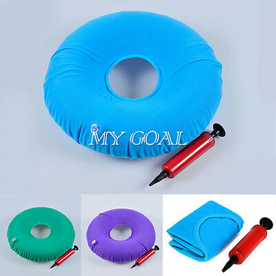 Inflatable Ring Round Rubber Seat Cushion Medical Hemorrhoid Pillow Donut 34cm
