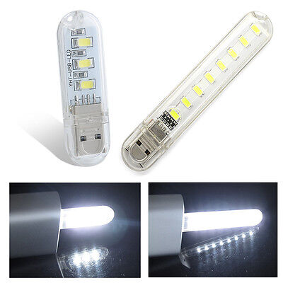 Mini Portable Bright 5730 3SMD 8SMD LED Night Light USB Lamp Keychain PC Laptop