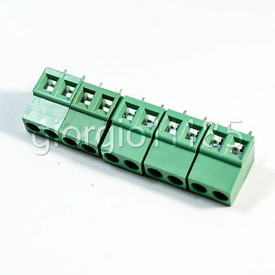 US Stock 20x 5mm Pitch 2 pin 2 way PCB Screw Terminal Blocks Connector Green