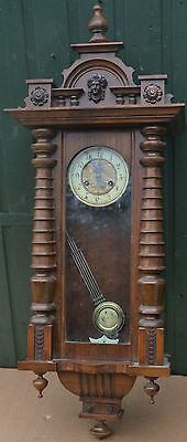 Beautiful Looking And Very Clean Fancy Old Vienna Wooden Wall Clock