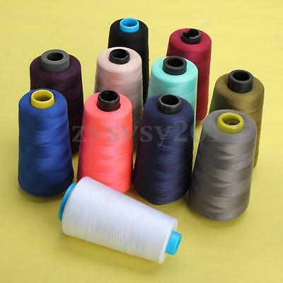 UK 3000 Yards Sewing Thread For Machine Industrial Polyester Spools Metre Cones