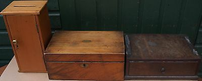 3 Old Wooden Boxes Or Similar Items To Restore