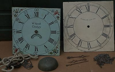 Old Longcase W Newall Dial With Workings Etc For Spares Repair